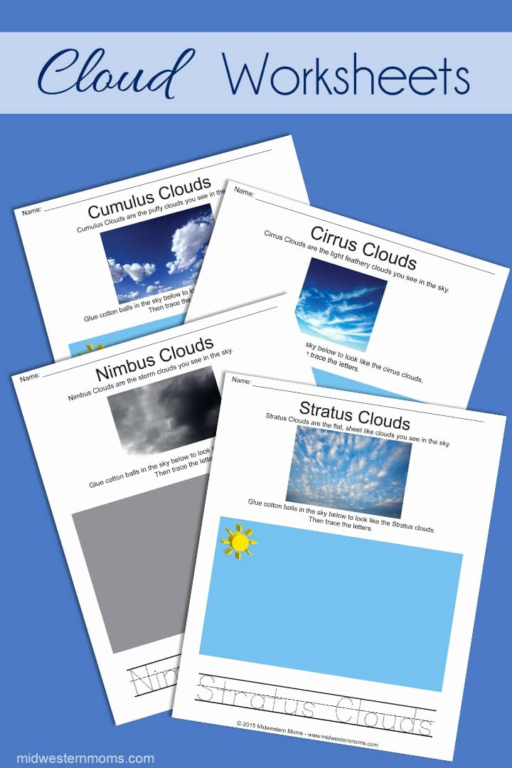 Types Of Clouds Worksheet Lovely Types Of Clouds Worksheets