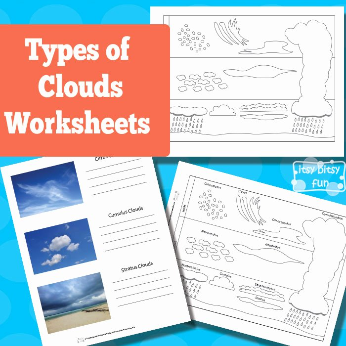 Types Of Clouds Worksheet New 31 Days Of Read Alouds Cloudy with A Chance Of Meatballs