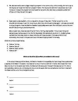 Types Of Conflict Worksheet Beautiful Conflicts In Literature Practice Worksheet by Goldmonte