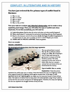 Types Of Conflict Worksheet Fresh Types Of Conflict In Literature Worksheet Using Iconic