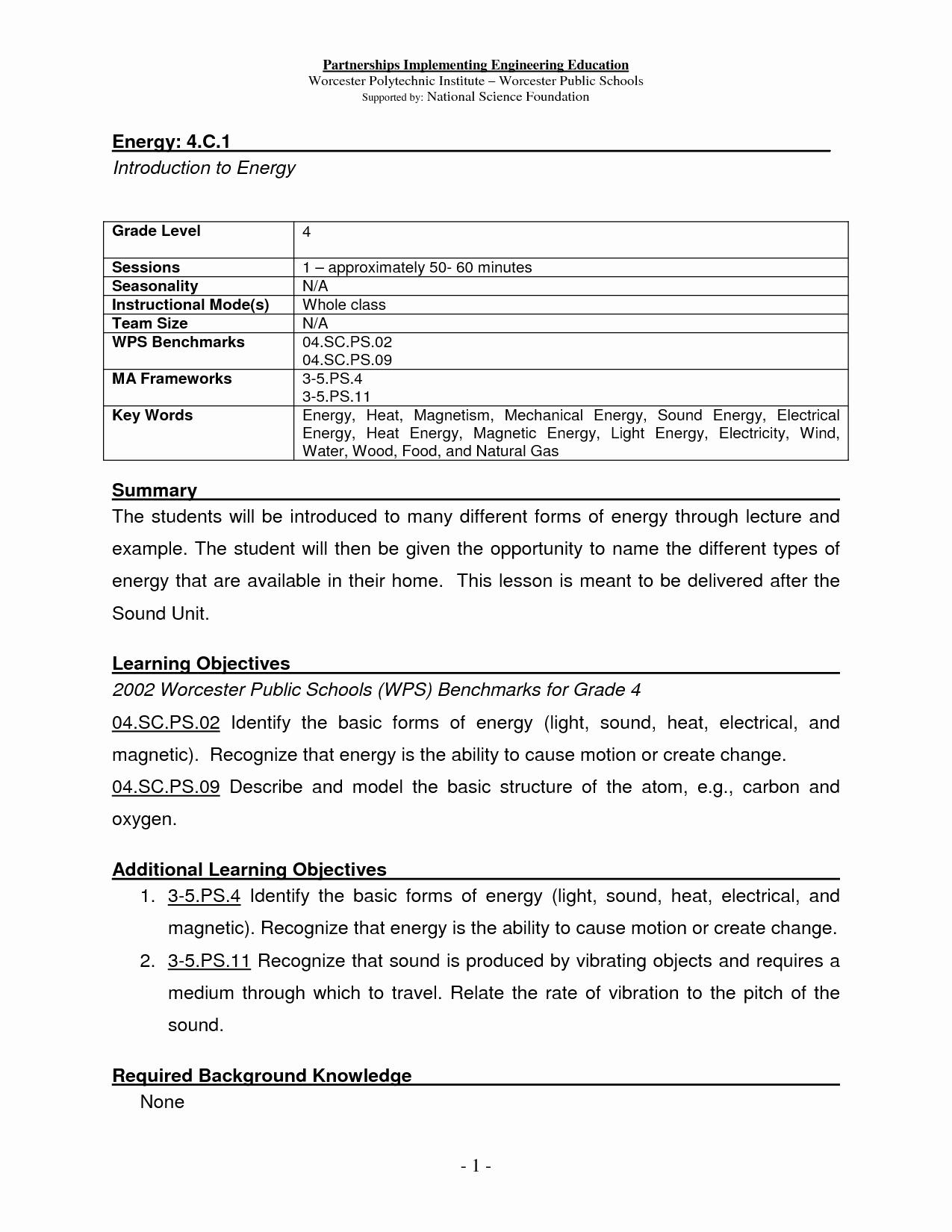 Types Of Energy Worksheet Best Of 14 Best Of Types Energy Worksheet Elementary