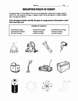 Types Of Energy Worksheet Best Of forms Of Energy by Science Works by Shannon