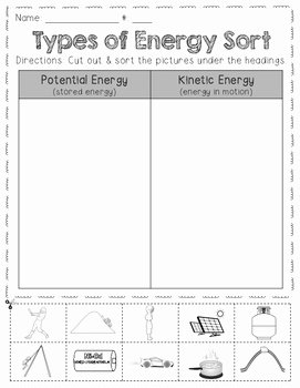 Types Of Energy Worksheet Best Of Types Of Energy sort Freebie by Barnard island