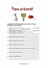 Types Of Energy Worksheet Lovely Types Of Energy 2nd 5th Grade Worksheet