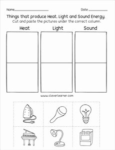 Types Of Energy Worksheet Unique sources Of Energy Printables and Worksheets for First