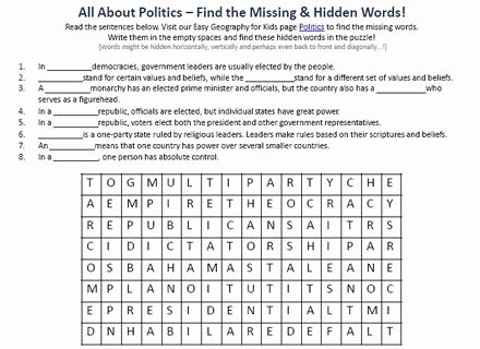 Types Of Government Worksheet Answers Beautiful Types Government Worksheet Khafre Types Government