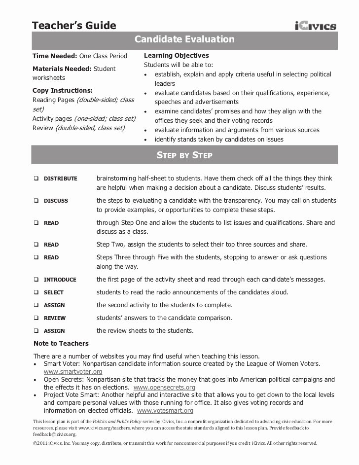 Types Of Government Worksheet Answers New Candidate Eval Icivics