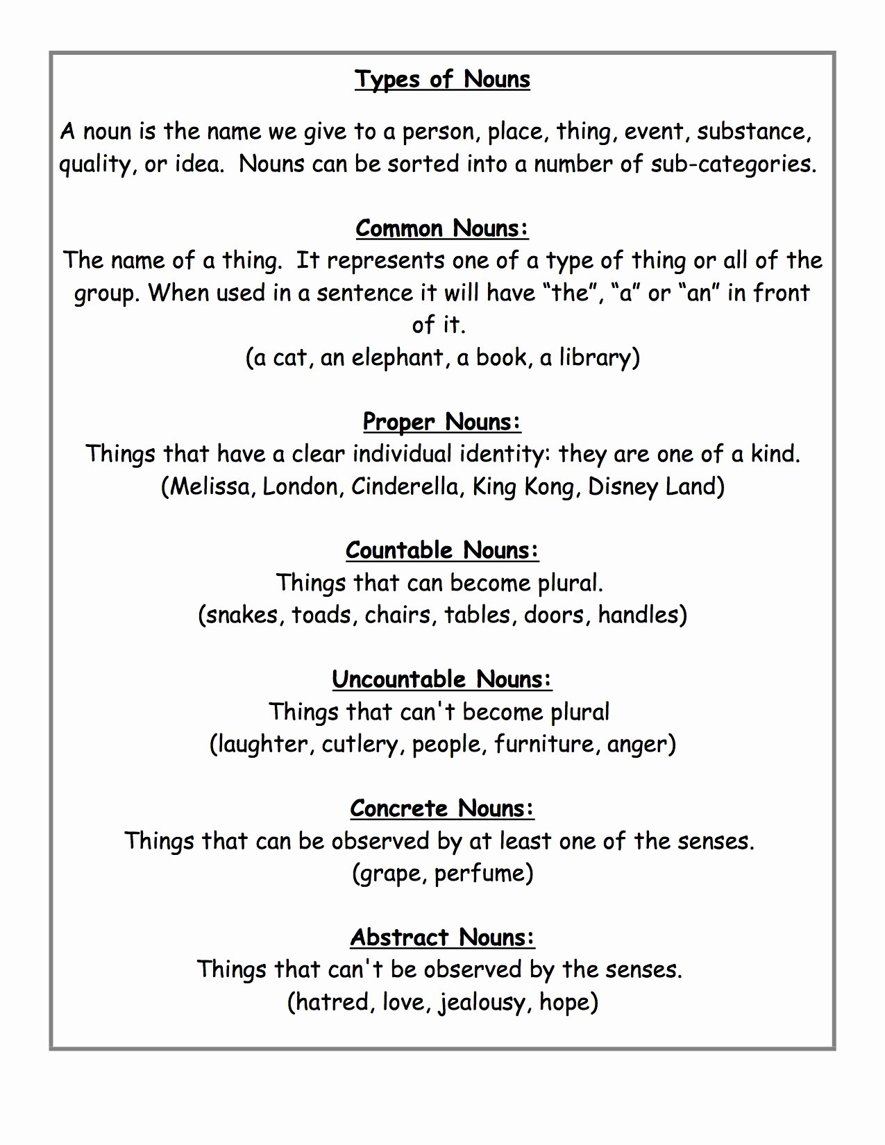 Types Of Nouns Worksheet Beautiful What S New at Free Teacher Worksheets