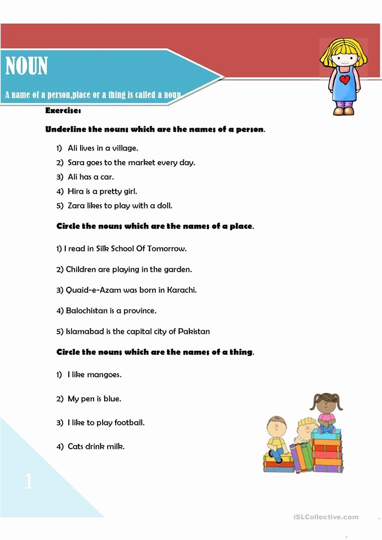 Types Of Nouns Worksheet Elegant Noun and Its Types Worksheet Free Esl Printable