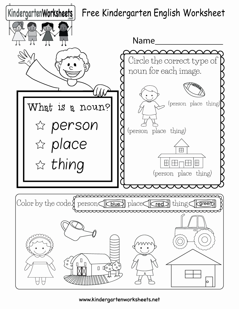 Types Of Nouns Worksheet Elegant This is A Great Free Worksheet to Teach Kindergarten Kids