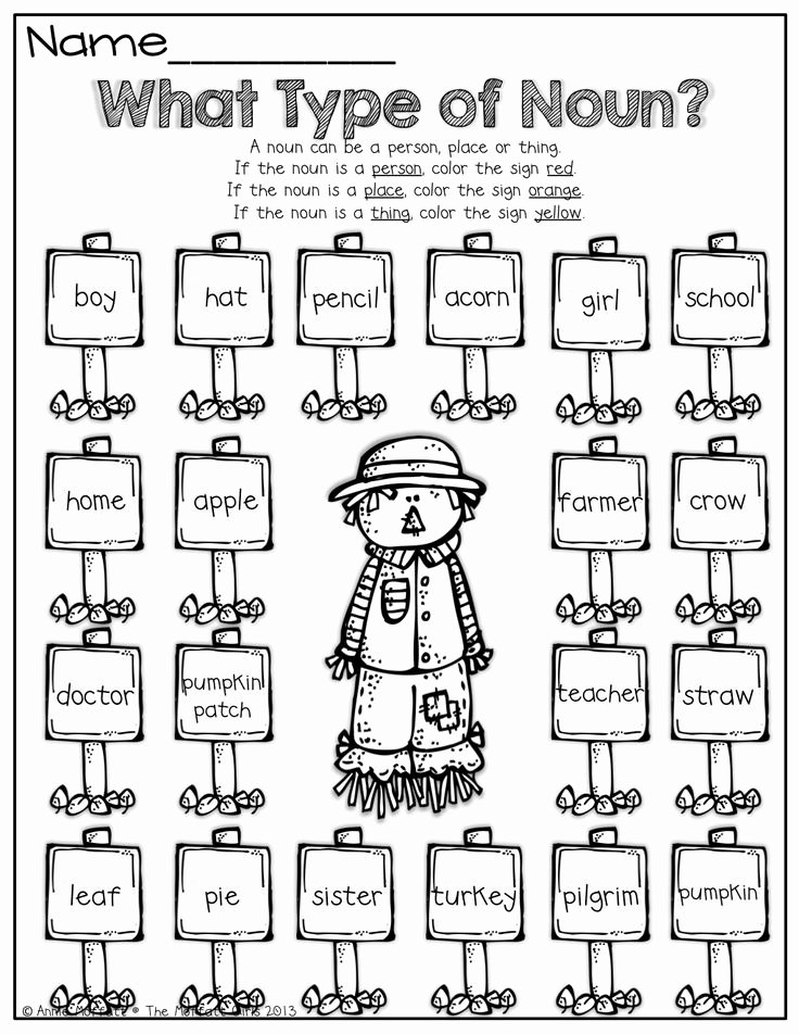 Types Of Nouns Worksheet Fresh Nouns Proper and Mon