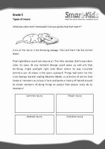 Types Of Nouns Worksheet Lovely Grade 5 English Worksheet Types Of Nouns