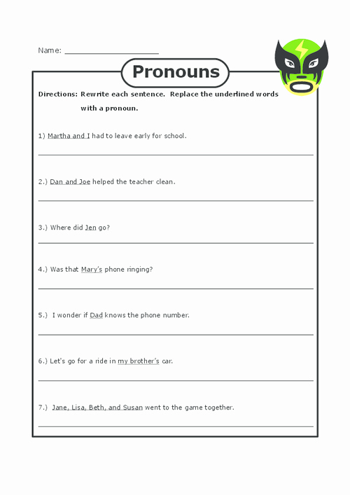 Types Of Nouns Worksheet Luxury Pronoun Practice 2 Grammar Practice