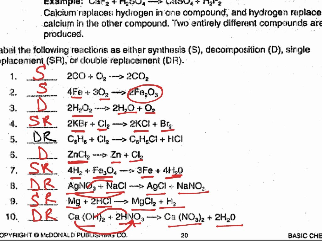 Types Of Reactions Worksheet Answers Lovely Types Chemical Reactions Worksheet Answer Key the Best