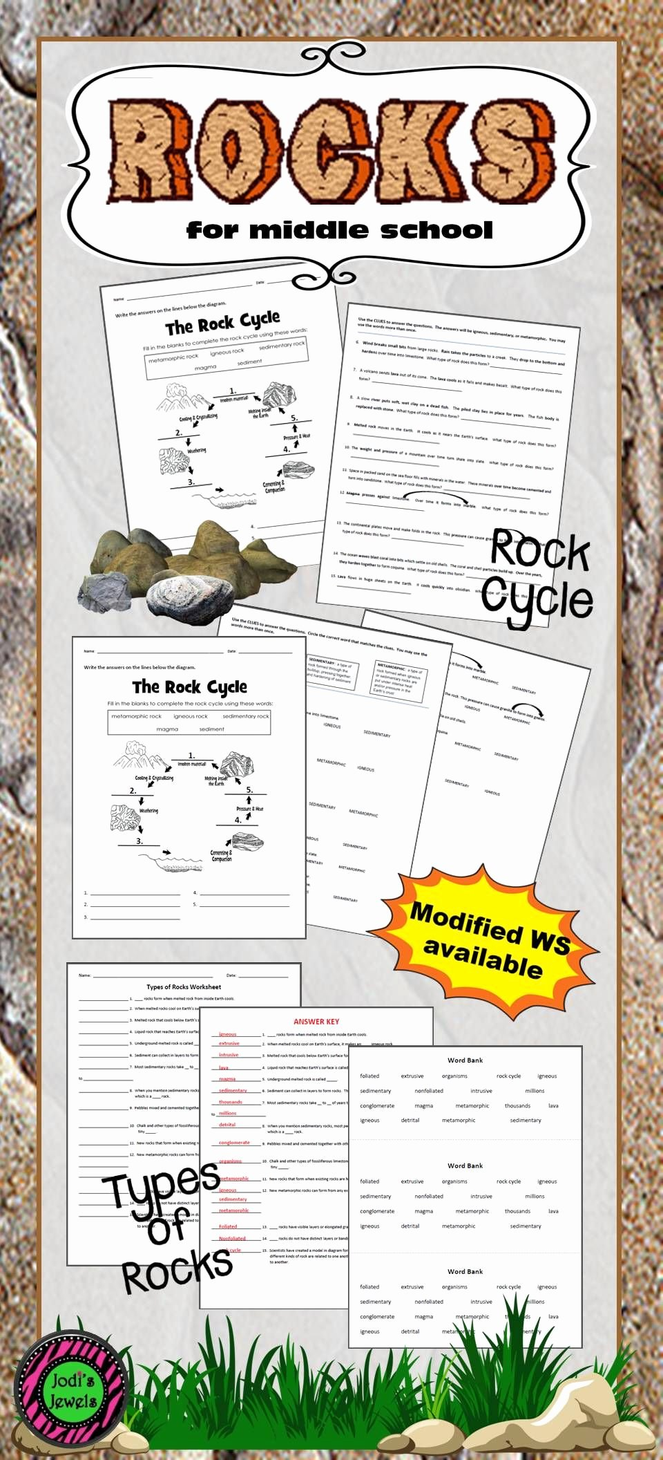 Types Of Rock Worksheet Awesome Add Worksheets About Types Of Rocks and the Rock Cycle to