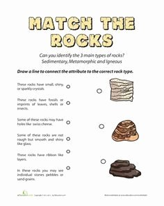 Types Of Rock Worksheet Lovely October Worksheets and Coloring Pages
