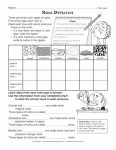 Types Of Rocks Worksheet Pdf Awesome Results for Science 2 Worksheet