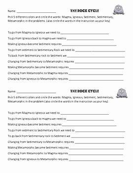 Types Of Rocks Worksheet Pdf Awesome Written Rock Cycle Worksheet Igneous Metamorphic