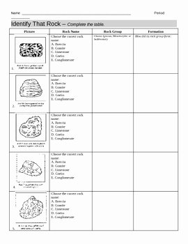 Types Of Rocks Worksheet Pdf Elegant Identify Types Of Rocks Worksheet by Jjms