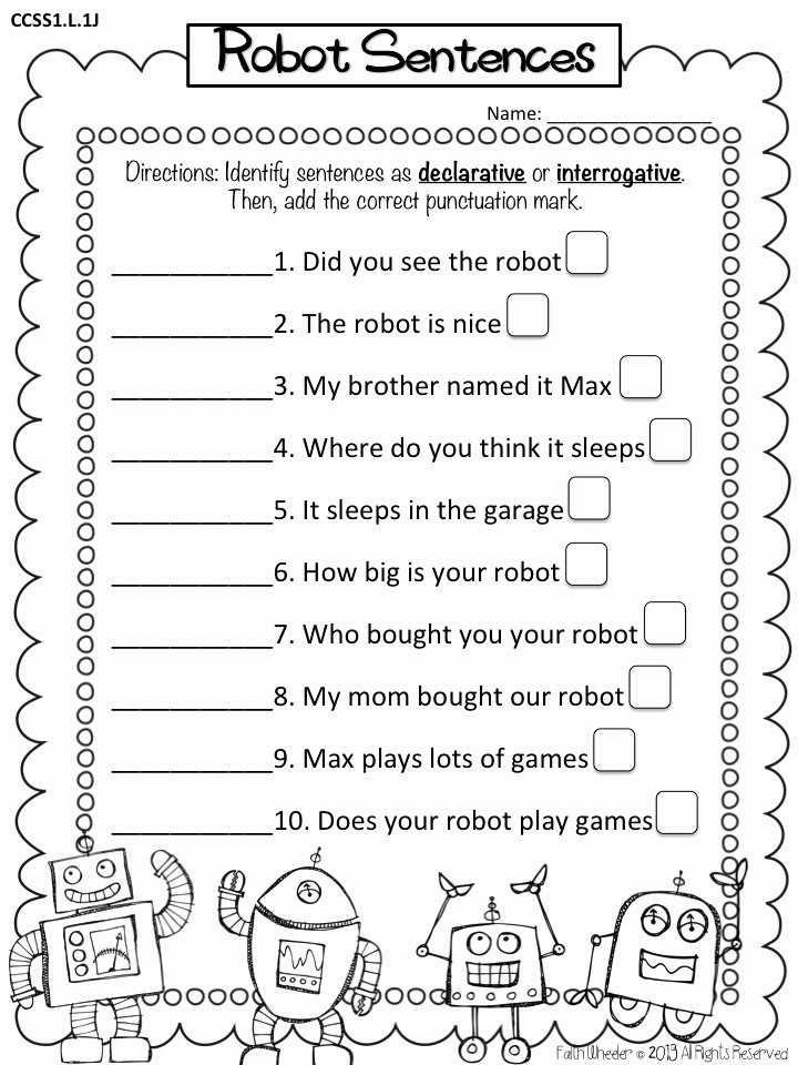 Types Of Sentences Worksheet Fresh Types Of Sentences Declarative & Interrogative Freebie