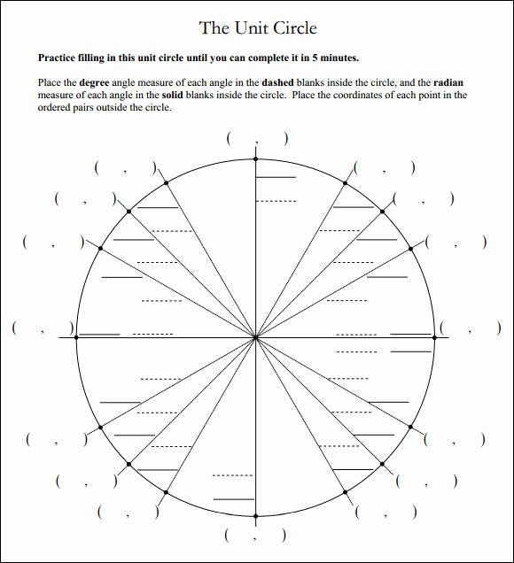 Unit Circle Practice Worksheet Elegant Sample Unit Circle Chart 18 Documents In Pdf Word