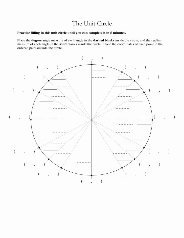 Unit Circle Practice Worksheet Inspirational Unit Circle Quiz Worksheet Calendar June