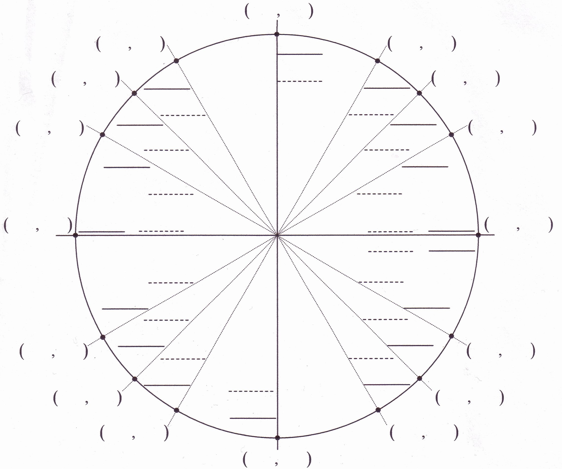 Unit Circle Worksheet with Answers Awesome Math Worksheets Unit Circle Worksheet Famous Adornment
