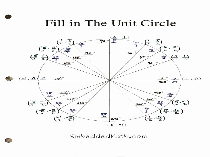 Unit Circle Worksheet with Answers Lovely Unit Circle Worksheet with Answers Free Printable Worksheets