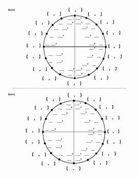 Unit Circle Worksheet with Answers Unique Unit Circle Questions with Answers Unit Circle Worksheet