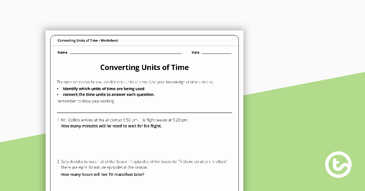 Unit Conversion Word Problems Worksheet Beautiful Converting Time Word Problems Worksheet Teaching Resource