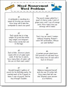 Unit Conversion Word Problems Worksheet Beautiful Mixed Measurement Word Problem Task Cards for Cooperative