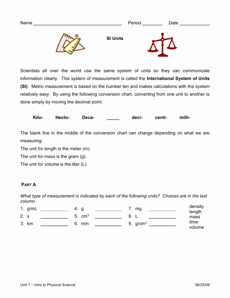 Unit Conversions Worksheet Answers Awesome Units & Unit Conversions Worksheet