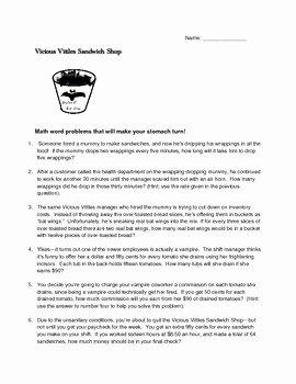 Unit Rate Word Problems Worksheet Elegant Fun Spooky Math Rate and Unit Rate Word Problems for