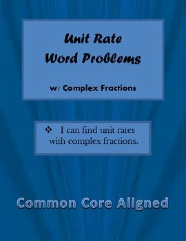 Unit Rate Word Problems Worksheet Inspirational Unit Rate Word Problems W Plex Fractions Mon Core