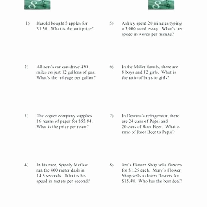 Unit Rate Worksheet 6th Grade Lovely Unit Rates Worksheet 6th Grade – Eastcooperspeakeasy