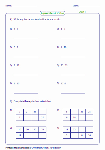 Unit Rate Worksheet 6th Grade Luxury Ratio Worksheets
