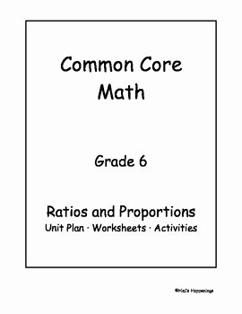 Unit Rate Worksheet 6th Grade New 6th Grade Mon Core Math Ratios and Proportional