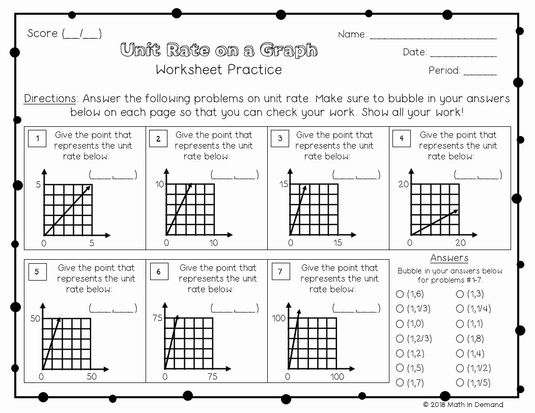 Unit Rate Worksheet 7th Grade Luxury 7th Grade Math Worksheets Math In Demand