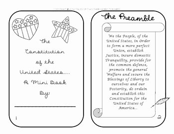 United States Constitution Worksheet Best Of the United States Constitution Mini Book by Tales Of 2