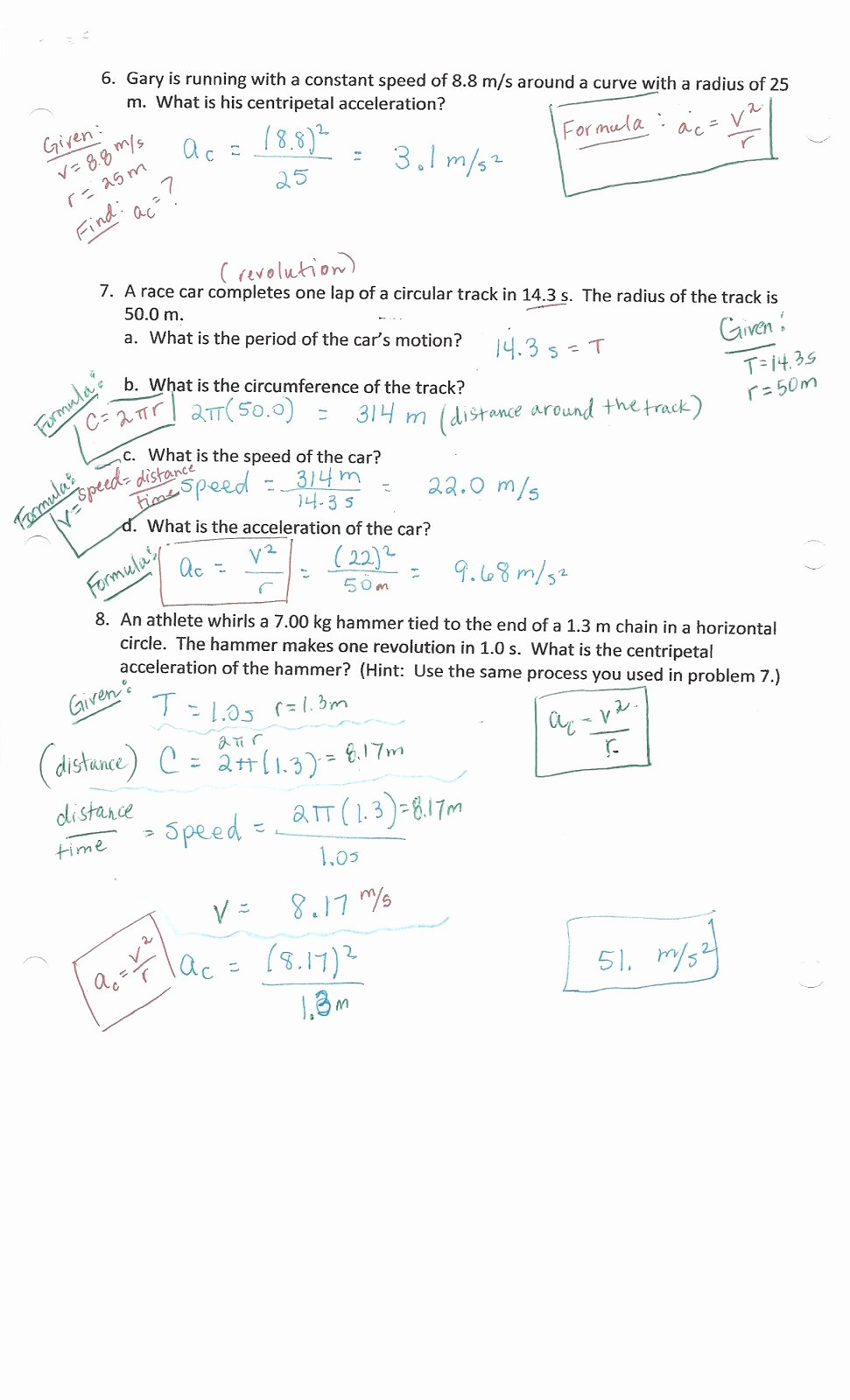 Universal Gravitation Worksheet Answers Beautiful Physics with Coach T Centripetal Acceleration Universal