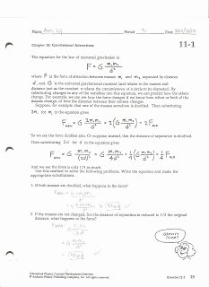 Universal Gravitation Worksheet Answers Best Of Worksheet Universal Law Gravitation Answers