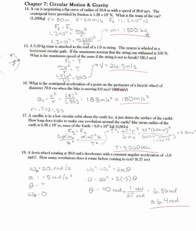 Universal Gravitation Worksheet Answers Fresh Universal Gravitation Worksheet