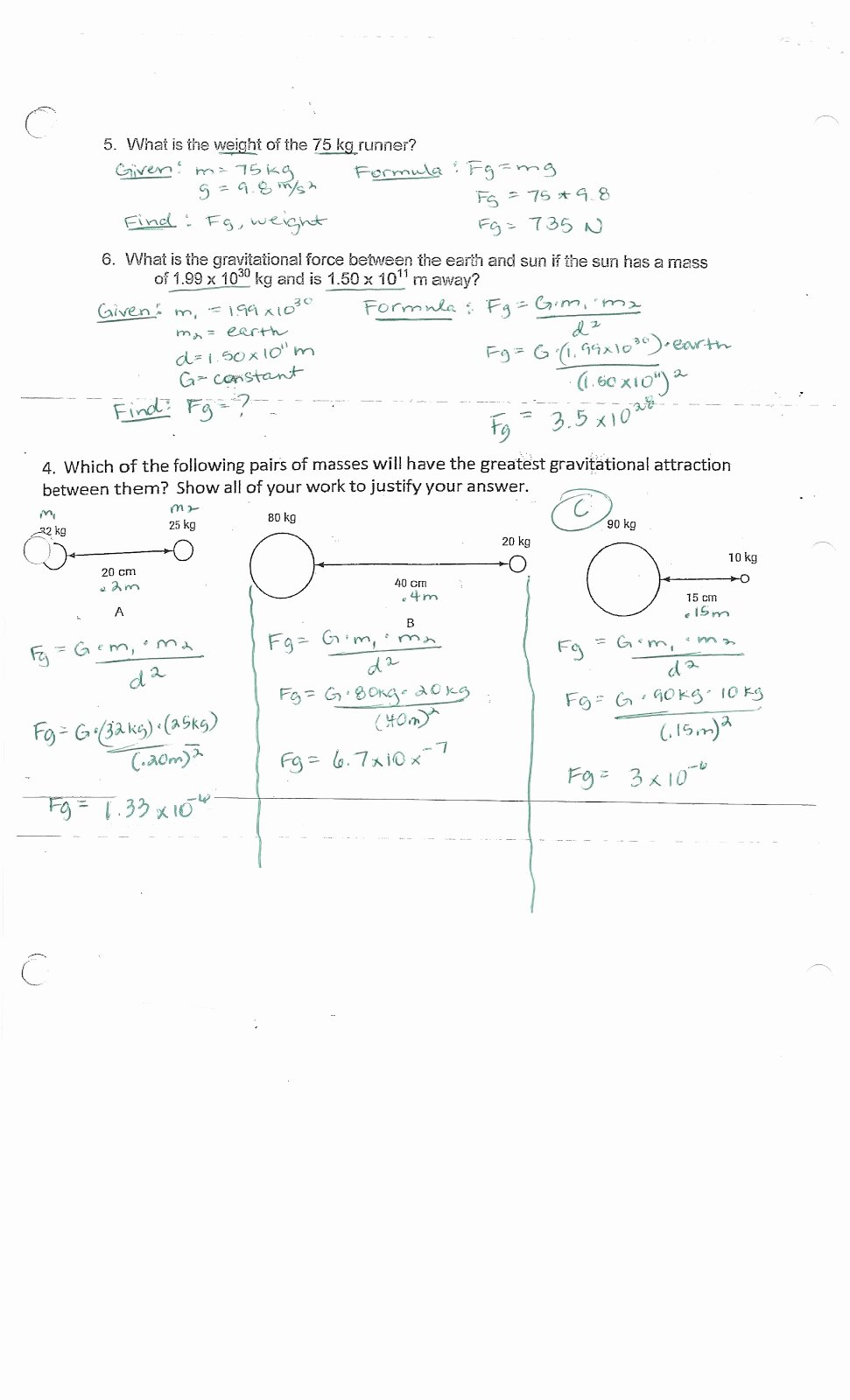 Universal Gravitation Worksheet Answers Fresh What is the Law Universal Gravitation Worksheet