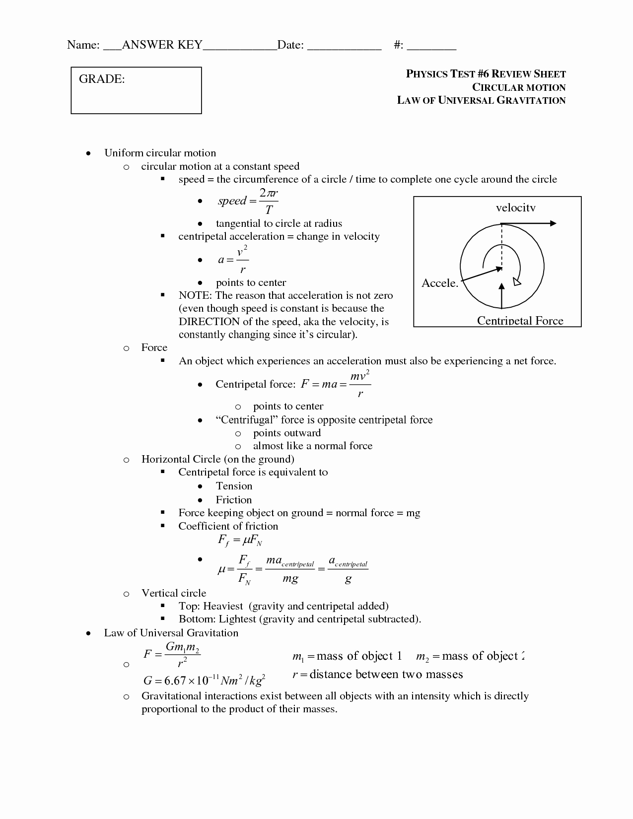 Universal Gravitation Worksheet Answers Lovely 12 Best Of States Matter Worksheet Answer Key