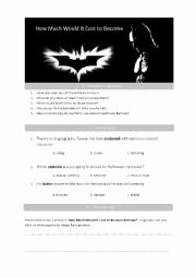 Upfront Magazine Worksheet Answers Inspirational English Worksheets How Much Would It Cost to Be E Batman