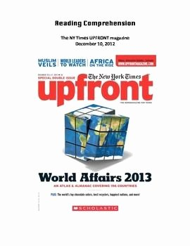 Upfront Magazine Worksheet Answers Inspirational Upfront Magazine Reading Prehension Ws Gross Domestic