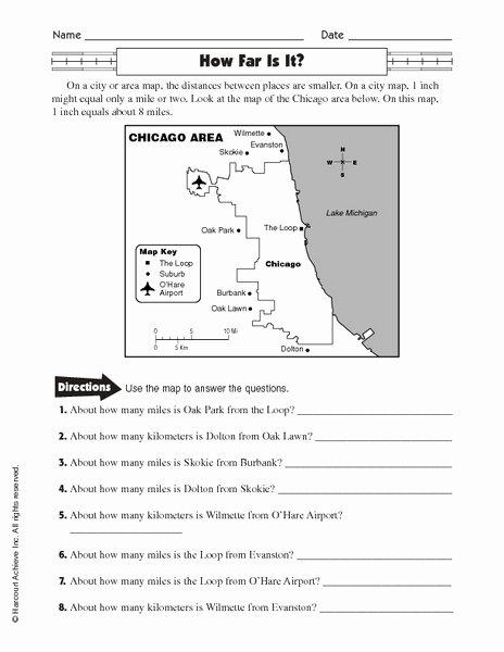 Using A Map Scale Worksheet Awesome Free Map Scale Lesson Plans & Worksheets Reviewed by Teachers