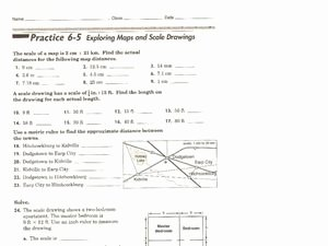 Using A Map Scale Worksheet Elegant Exploring Maps and Scale Drawings 7th 8th Grade