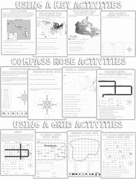 Using A Map Scale Worksheet Elegant Map Skills Unit Activities for Maps and Globes