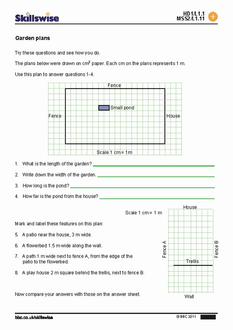 map scale worksheets